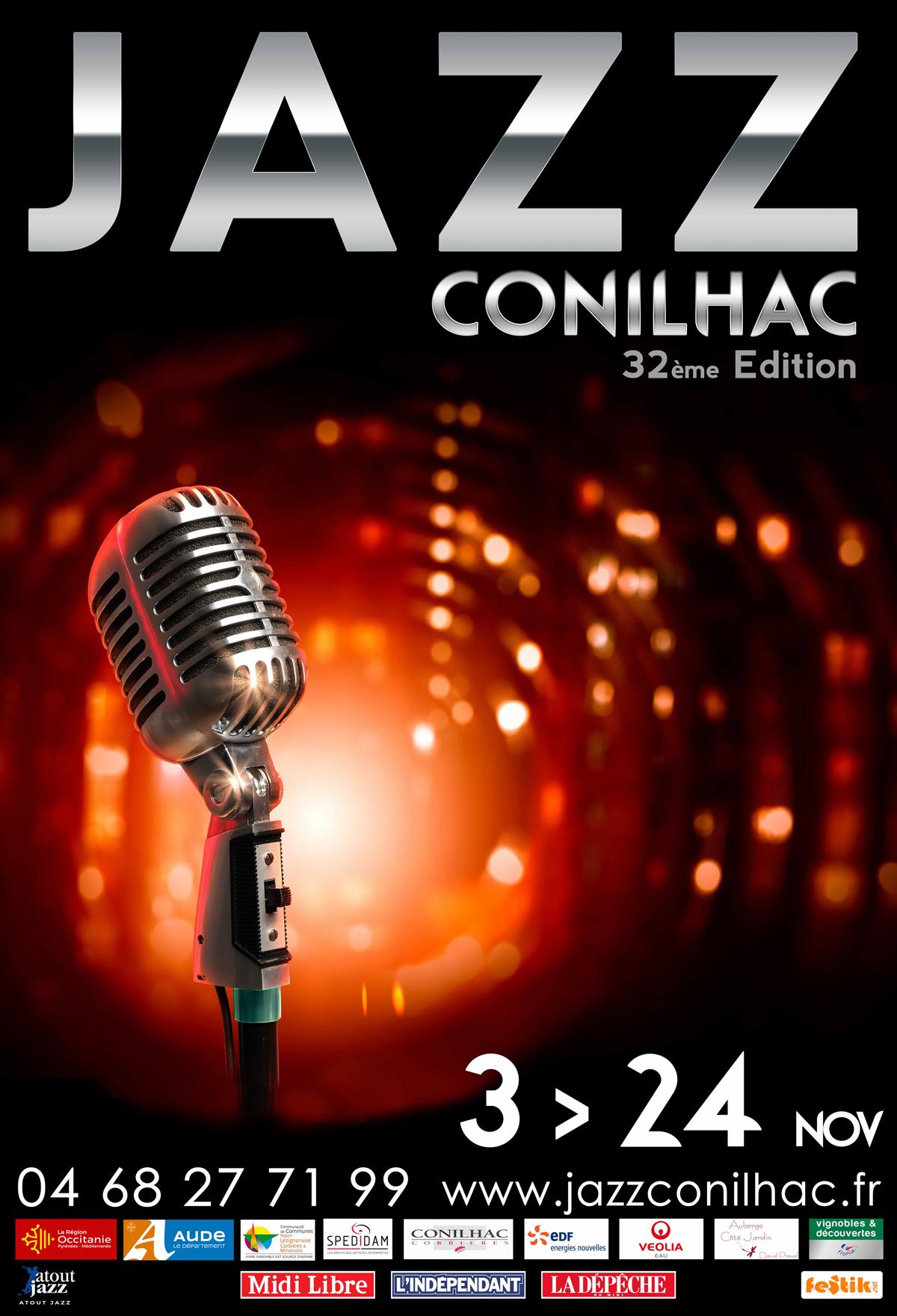 Affiche Festival Jazz Conilhac 2018